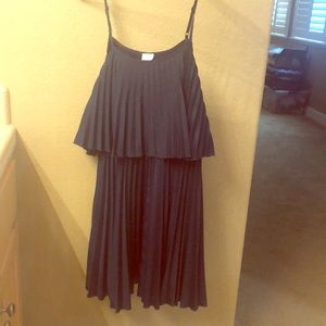 Navy pleated Charming Charlie Summer Dress